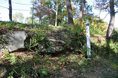 椿井城址の石垣跡