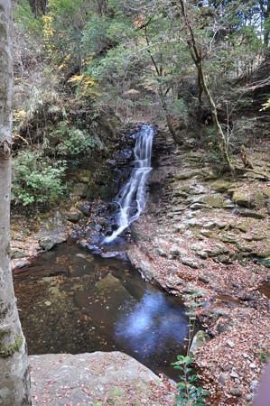 上からみた岩窟滝