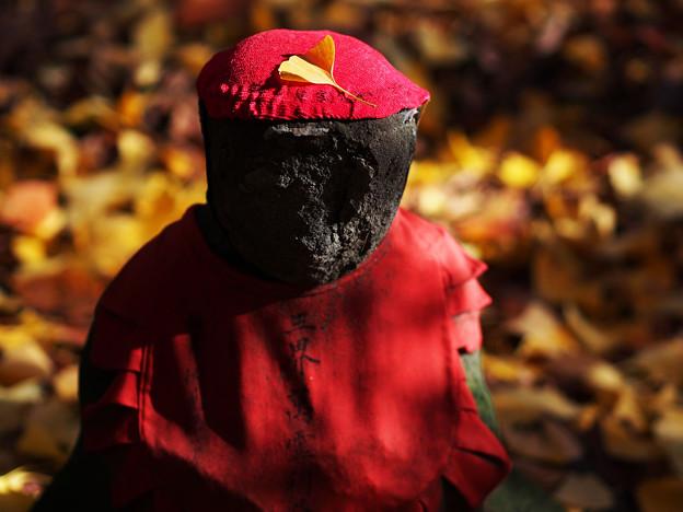 秋の陽に佇む
