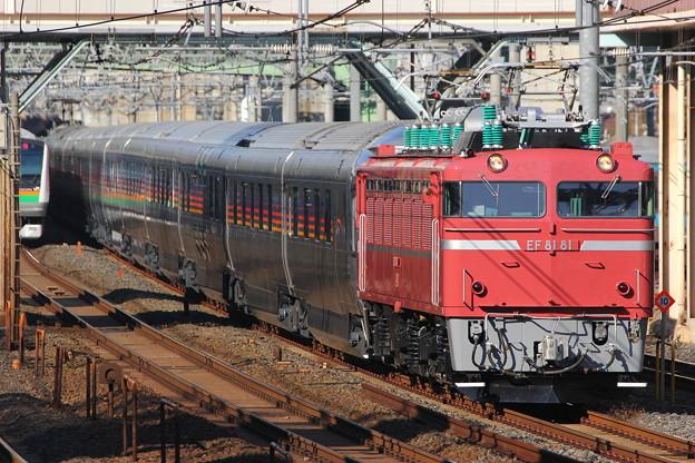 EF81-81号機カシオペアクルーズ回9062レ