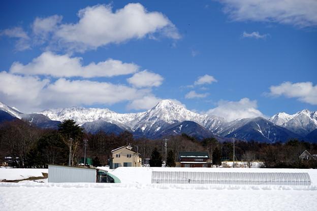 雪の八ヶ岳連峰