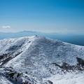 Photos: 中岳から稲星山、奥に祖母山