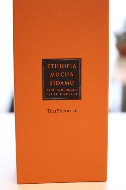 Photos: Tully's ETHIOPIA MOCHA SIDAMO TADE GG HIGHLAND FIRST HARVEST 外箱