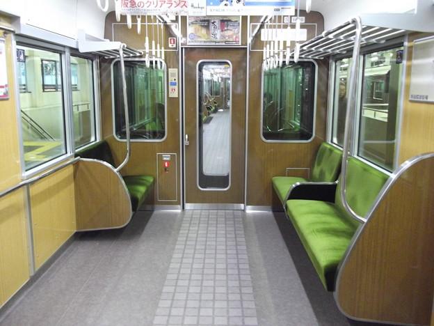 阪急1300系 床とか車端部座席とかの内装