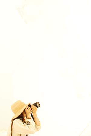カメラと白