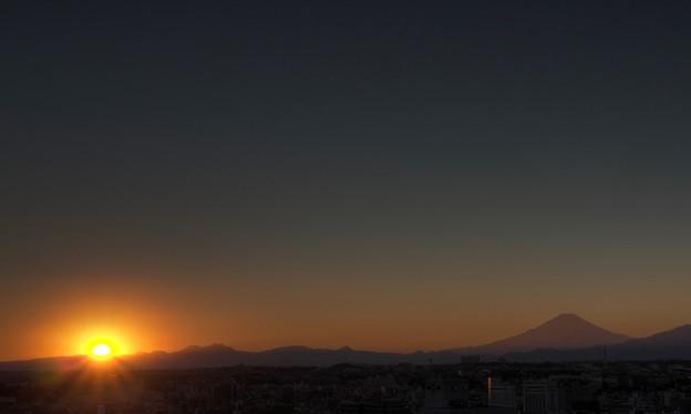 横浜マリンタワーからの夕景