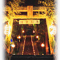 布川神社 大晦日の竹灯篭