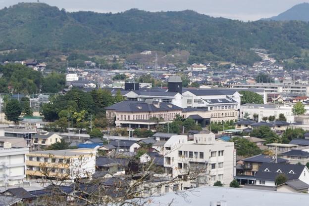 津山高校.遠景