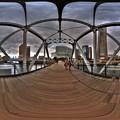 横浜 汽車道 港1号橋梁 360度パノラマ写真 HDR