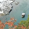 保津峡雪景色