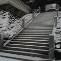 堂々たる階段、山門
