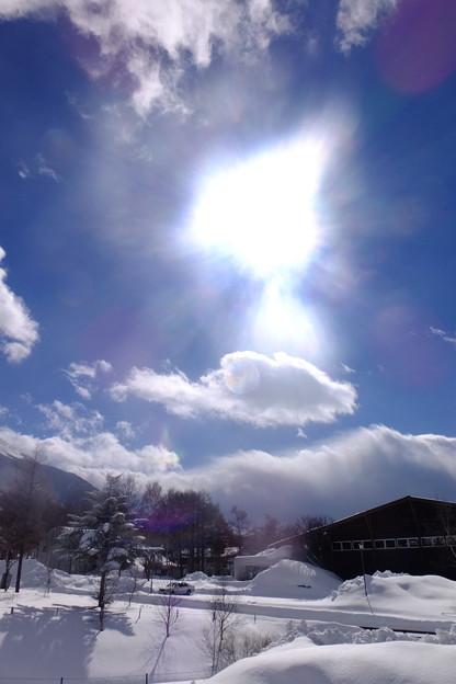 真冬の太陽光線