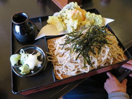 草笛 上田店 野菜天ざる¥1100