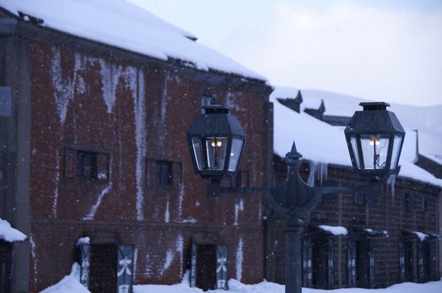 小樽雪明りの路 そろそろ日が暮れるか・・・