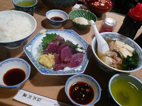 2010.06.24/銀座・三州屋「かつおたたき定食」