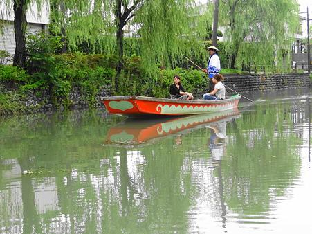 柳繁れる柳川の舟下り