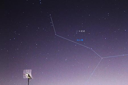 はと座付近のラヴジョイ彗星(C/2014 Q2)