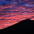 雲が燃える・磐梯山