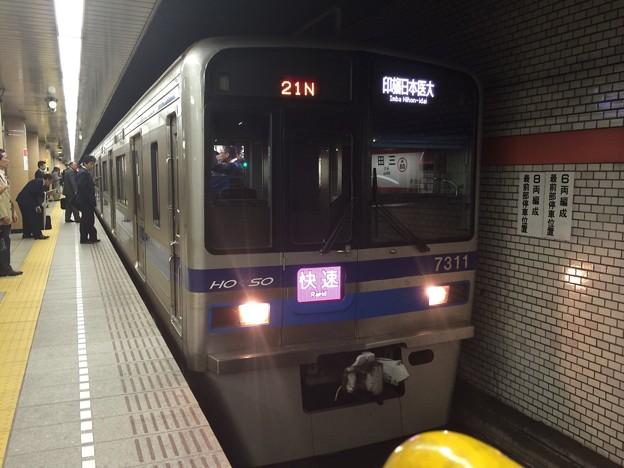 北総鉄道7300形7318F 1721N快速印旛日本医大行き