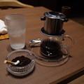 ベトナムコーヒー抽出中