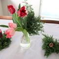 クリスマスパーティの花
