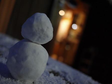 元旦から雪だるまだーーーっ