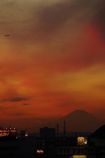 Photos: 日暮れる富士山