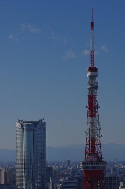 東京タワーと森タワー