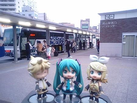 ■(車中泊)  → 岡山駅 7:35      バス「ルミナス号」(小田急...