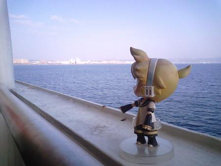 レン:「鹿児島市街が見えてきた!」