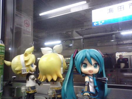 海田市駅に停車。 ミク:「ここから、呉線に入りまーす」 リン:「ク...