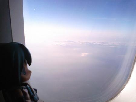 離陸後1時間。さあ関東上空にきたぞ!