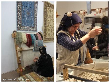 トルコ絨毯作り