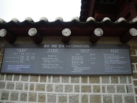 宗廟(チョンミョ)入り口
