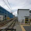 長野駅から豊野・飯山方面を望む