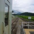 替佐駅から飯山・戸狩野沢温泉方面を望む