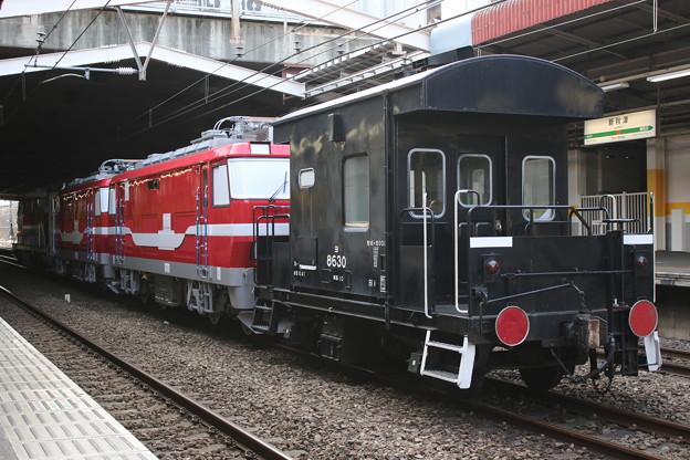 ヨ8630+名鉄デキ120形+DE10 1664 甲種輸送