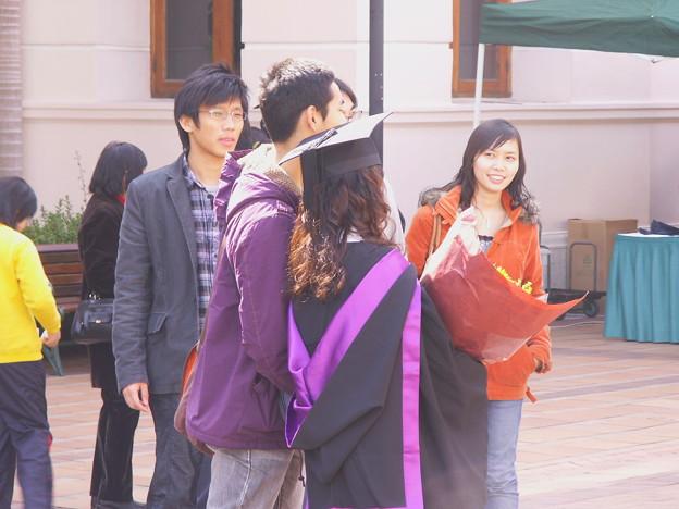 写真: 香港の学生たち
