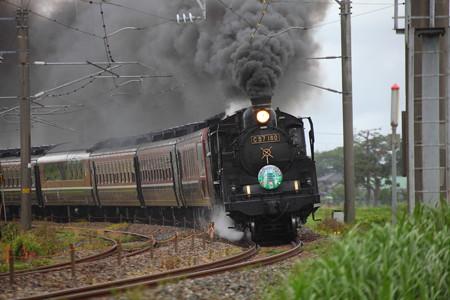 C57-180快速「SL山形DC架け橋号」2