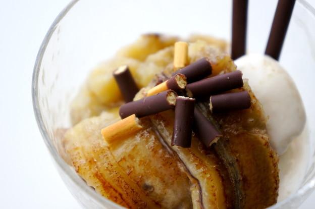 写真: 3種のバナナの簡単ぱパルフェ