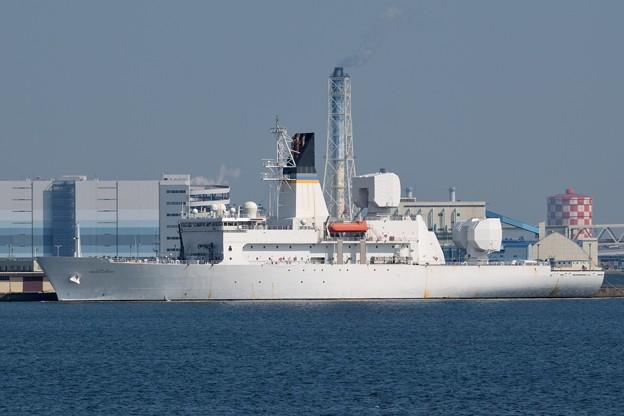 アメリカ海軍新型ミサイル追跡艦-1