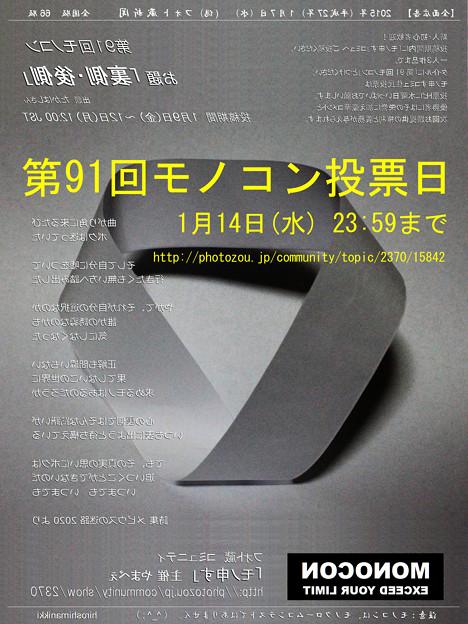 第91回モノコン投票日 1月14日