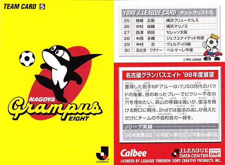 名古屋グランパスエイトのチェックリスト画像