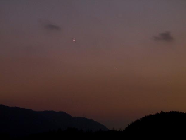 水星と金星(2015.01.19)