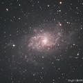 さんかく座のM33銀河