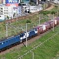 Photos: 89レ EF64 1040+EF64 1042+コキ