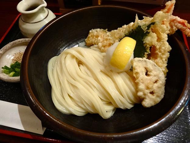 美の庵 海老天ぶっかけうどん bukkake udon 広島市中区東白島町