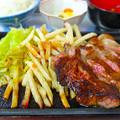 大衆酒場 喜久本店 パワーランチ 牛ステーキ 広島市南区京橋町