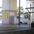 阪神久寿川駅北側出口から地上を見る。(2014年)