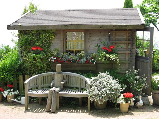 写真: 公園の中の小屋